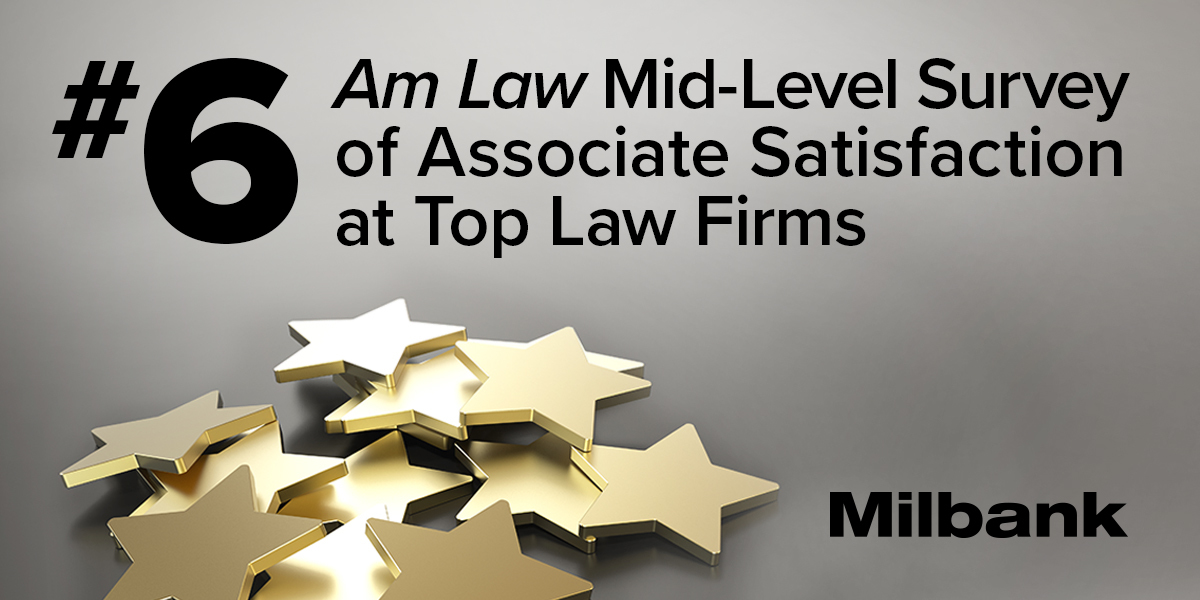 Milbank Mid-Level Associates Among Most Satisfied in the US